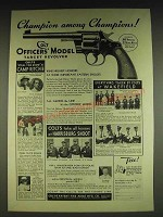 1934 Colt Officers' Model Target .38 Revolver Ad - Champion among Champions!