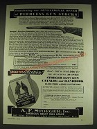 1934 A.F. Stoeger Peerless Gun Stocks Ad - Continuing our sensational offer