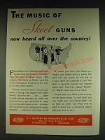 1934 Du Pont Sporting Powders Skeet Ad - The music of Skeet guns now heard