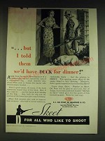 1934 Du Pont Sporting Powders Skeet Ad - …but I told them we'd have Duck