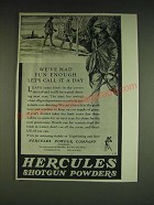 1934 Hercules Shotgun Powders Ad - We've had fun enough let's call it a day