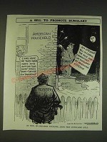 1934 Cartoon by Carey Orr - A bill to promote burglary