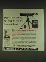 1934 Bausch & Lomb Draw Tube Spotting Scope Ad