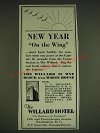 1934 The Willard Hotel Ad - New Year on the Wing
