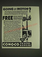 1934 Conoco Travel Bureau Ad - Going by Motor?