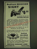 1934 Redfield Receiver Sight Ad - Redfield Receiver Sight $6.50