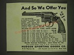 1934 Hudson Sporting Goods Ad - Colt Model 1917
