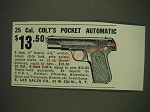 1934 E. Lee Sales Co. Ad - Colt 25 cal. Pocket Automatic Pistol