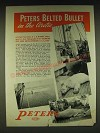 1935 Peters Ammunition Ad - Polar Bear, Walrus and Narwhal