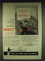 1935 Du Pont Sporting Powders Skeet Ad - Picture of a dog whose Master Misses