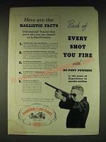 1935 Du Pont Sporting Powder Ad - Here are the Ballistic facts