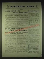 1935 Hercules Powder Company Ad - Reloader News Good news for Pistol Shooters
