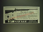 1935 Savage Model 19 Target Rifle Ad - They enjoy its accuracy in hunting
