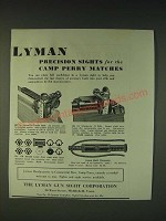 1935 Lyman Sights Ad - 48Y, 48J, 17A and Sight Micrometer