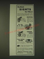 1935 Redfield Sights Ad - Hunting, Micrometer, Target and Globe