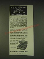 1935 Savage Arms Gun Cleaning Kit Ad - Highly efficient gun cleaning