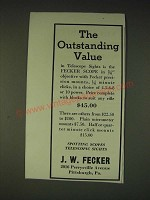 1935 J.W. Fecker scopes Ad - The outstanding value
