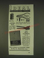 1935 Lyman Ideal Reloading Tools Ad -  No.3, and Single Bullet Mould