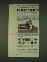 1935 Lyman 48 Micrometer Receiver Sight and 17A Target Front Sight Ad
