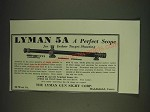1935 Lyman 5A Scope Ad - A perfect scope for indoor target shooting