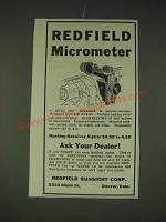 1935 Redfield Micrometer Sight Ad