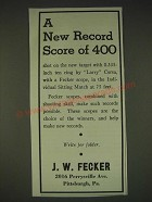 1935 J.W. Fecker scopes Ad - A new record score of 400