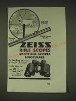 1935 Zeiss Graticule No. 7 Rifle Scope Ad