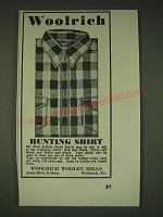 1935 Woolrich Hunting Shirt Ad