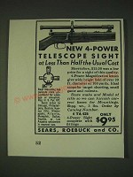 1935 Sears, Roebuck and Co. 4-Power Telescopic Sight Ad