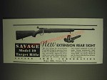 1936 Savage Model 19 Target Rifle and No. 15 Extension Peep Sight Ad