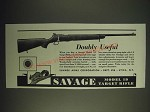 1936 Savage Model 19 Target Rifle Ad - Doubly Useful