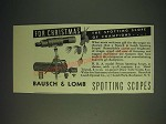 1936 Bausch & Lomb N.R.A. Model Prism Spotting Scope Ad - For Christmas