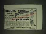 1936 Redfield Model 54 Scope Mount Ad - Chucks will soon be out!