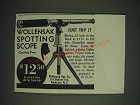 1936 Wollensak Spotting Scope Ad - Wollensak Spotting Scope Just Try It
