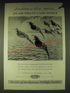 1937 Du Pont Sporting Powder Division Ad - Abundant Game Supply