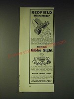 1937 Redfield Micrometer and Globe Sight Ad