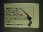 1937 Harrington & Richardson USRA Model Pistol Ad - America wins