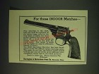 1937 Harrington & Richardson Sportsman Revolver Ad - For those indoor matches