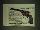 1937 harrington & Richardson Sportsman Revolver Ad - Single Shot Accuracy