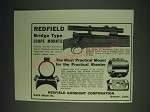1937 Redfield Bridge Type Scope Mount Ad