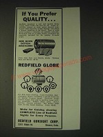 1937 Redfield No. 63 Globe Target Front Sight Ad - If you prefer quality