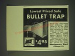 1937 Montgomery Ward Bullet Trap Ad - Lowest priced safe Bullet trap