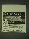 1937 M.L. Stith Mounts Ad - for the new Weaver 330-S
