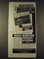 1938 Duff-Norton Target System Ad - Marksmen! Here's the story