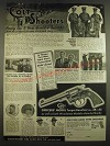 1938 colt Officers' Model Target Revolver Ad - Detroit Police Team
