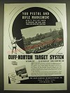 1938 duff-Norton Target System Ad - You Pistol and Rifle Marskmen!