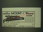 1938 Redfield Mounts Ad - for the Weaver Scope