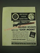 1938 Wollensak 4-Power Riflescope Ad - Improve your shooting