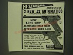 1938 Hi-Standard Model A and Model D .22 Automatic Pistols Ad