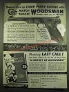 1939 Colt Woodsman Pistol Ad - Shooters burn up Camp Perry Range
